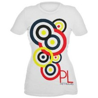 Pretty Lights Circles Girls T-Shirt Plus Size 3XL