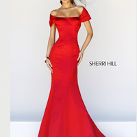 Off The Shoulder Sherri Hill Formal Prom Dress 21221