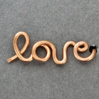 Love Cartilage Earring : Rose Gold Love Earring Stud, Cartilage, Handwritten, Cursive, Affirmation, Ear Cuff, ArtisanTree