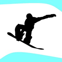 Snow Board Surfin 6 Inch Decal Sticker