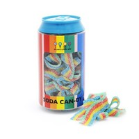 Dylan's Candy Bar Soda Can filled with Rainbow Sour Belts