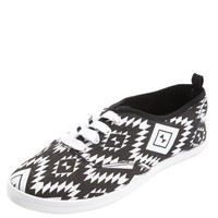 AZTEC CANVAS LACE-UP SNEAKER