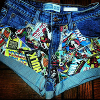 Marvel High-Waisted Shorts