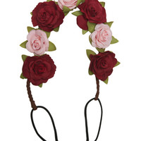 Two-Color Rose Headwrap