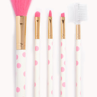 Polka Dot Cosmetic Brush Set