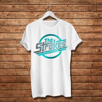 "The Strokes Shirt, The Stroke Indie Rock Women T-Shirt (Size Print 10""x10"" - Available Various Color)"