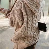hooded cardigan coat thickening BBCEG
