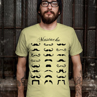 Mustaches T-Shirt - Mustaches of Men T-Shirt - Mustaches Design T Shirt for Men (Various Color Available)
