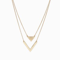 Geo V Double Symbol Pendant Necklace/Earring