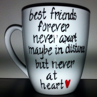 Best Friend Long Distance Mug with State Outlines on Back