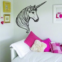 Unicorn Decal Sticker Wall Vinyl Art Animal Teen Girl