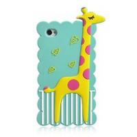 Celebrities Skidproof Cute Animal Giraffe Tough Protective Iphone 4/4s Shell Case