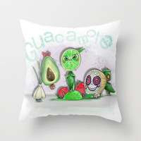 Guacamole Throw Pillow by Ben Geiger