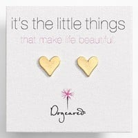 Dogeared 'It's the Little Things' Heart Stud Earrings