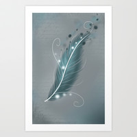 The magic feather Art Print by LouJah