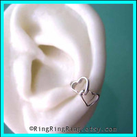 2 Double heart ear cuffs 925 Solid sterling silver by RingRingRing