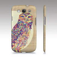 Sale Samsung Galaxy S3 case SALE CLEARANCE, cute colorful owl s3 case, owl galaxy s3 case, owl painting, illustration ready to ship