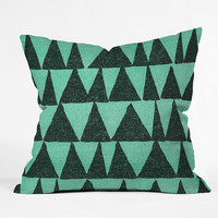Nick Nelson Analogous Shapes 1 Outdoor Throw Pillow