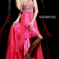 Strapless Beaded Dress by Sherri Hill