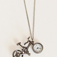 Bicycle Travels Watch Necklace in Pewter - &amp;#36;17.00 : ThreadSence.com, Your Spot For Indie Clothing &amp; Indie Urban Culture