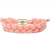 Ruby Hemp Shoelace Bracelet (Red)