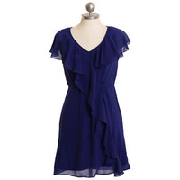 charmingly endearing royal blue ruffle dress - $35.99 : ShopRuche.com, Vintage Inspired Clothing, Affordable Clothes, Eco friendly Fashion