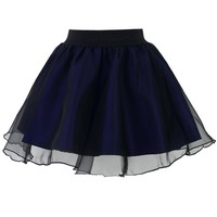 Blue Swinging Organza Skater Skirt
