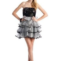 Sequined Ruffle Cocktail Formal