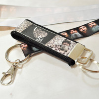 Duck Dynasty I Love Si ribbon keychain and lanyard set
