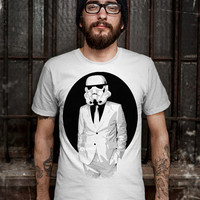 Star Wars Human T-Shirt - Stormtrooper(Star Wars) - Soldiers T-Shirt - Balck And White Design T-Shirt for Men (Various Color Available)