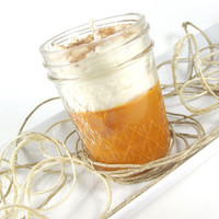 Soy Candle - Pumpkin Pie scented Soy Candle - Whipped Wax Soy Candle -- 8 ounce Mason Jar
