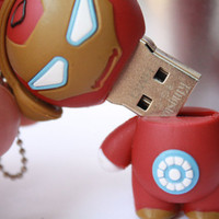 SALE30-70%OFF: 4GB Usb iron man Super Hero usb Flash Drive 4Gb , Cute Usb Flash Drive , Accessories , usb, Comic usb,
