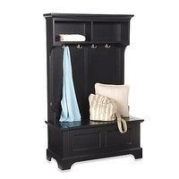 Home Styles Bedford Hall Tree and Storage Bench