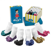 LUCY'S SOCKS - SET OF 6 | Baby Slipper Socks | UncommonGoods