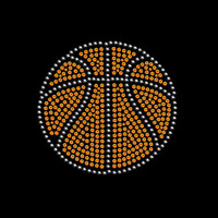 Basketball Rhinestone Transfer Iron On DIY Bling 34142