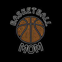 Basketball Mom Rhinestone Transfer Iron On DIY Bling 34144