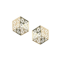 Cut Out Hexagon Earrings