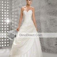Beading Lace Flower Sweetheart Court Empire Bridal Gown Wedding Dress, Europe - DinoDirect.com