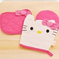 New Kitchenwear- Oven Mitts & Pot Holders Set of 2-hello Kitty Style