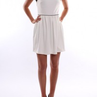 Kardashian Kollection - Ribbed Ponte Dress White Black - Dresses - Shop by Product - Womens