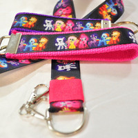 My Little Pony ribbon keychain and lanyard set
