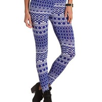 HIGH-WAISTED TRIBAL PRINT LEGGINGS
