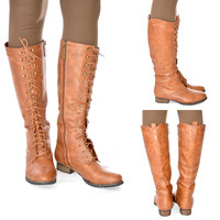 JULIET LACE UP BOOTS