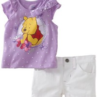 Disney Baby-Girls Infant Polka Dot Winnie 2 Piece Short Set