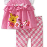 Disney Baby-Girls Infant Winnie Mock Shirt and Pant Set