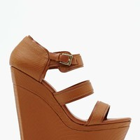 Shoe Cult Isis Wedge - Tan