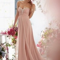 2013 Stock Long Sweetheart Chiffon Girls' Evening Formal Prom Bridesmaid Dresses