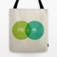 U & I = Fun 2013 Calendar Tote Bag by Pixel Pop