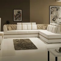 Manhattan Leather Sectional Sofa