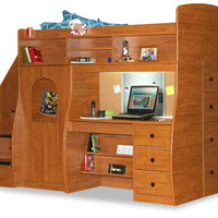 Presley's Twin Secret Stairway Loft Bed